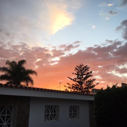 Solnedgång över Maspalomas